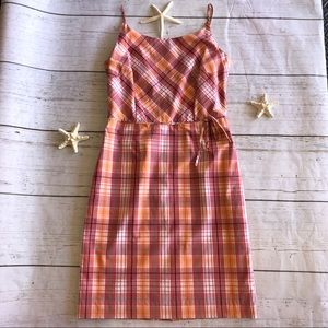 Ann Taylor Factory Store Plaid Sundress Size 8